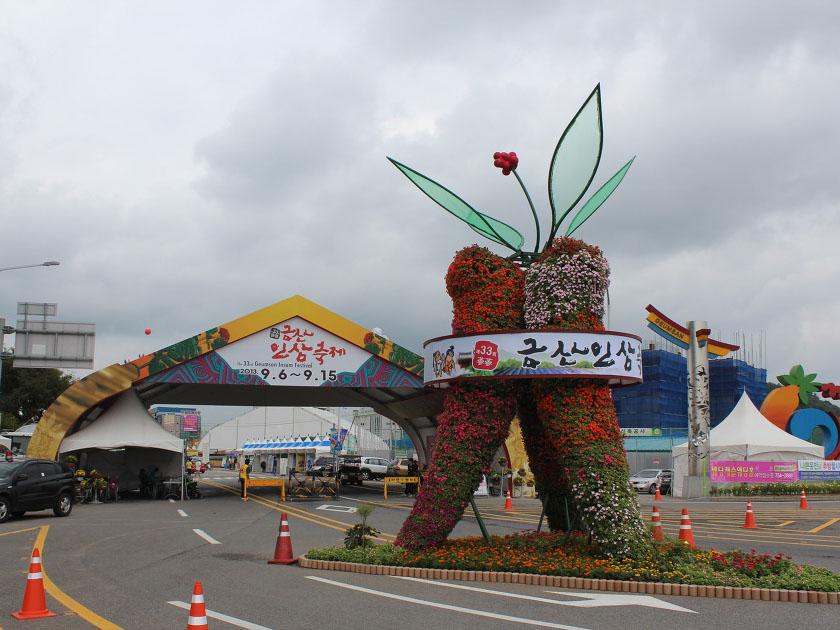 Lễ hội nhân sâm ở Geumsan Hàn Quốc