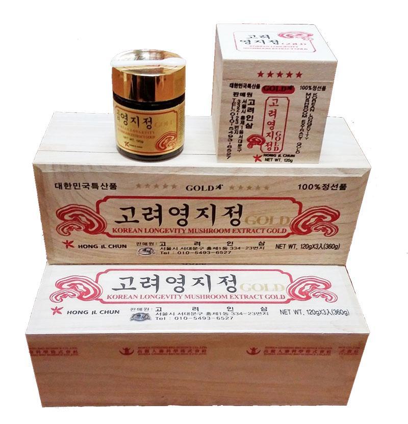 Cao linh chi cô đặc Gold Hàn Quốc - Hộp gỗ màu trắng