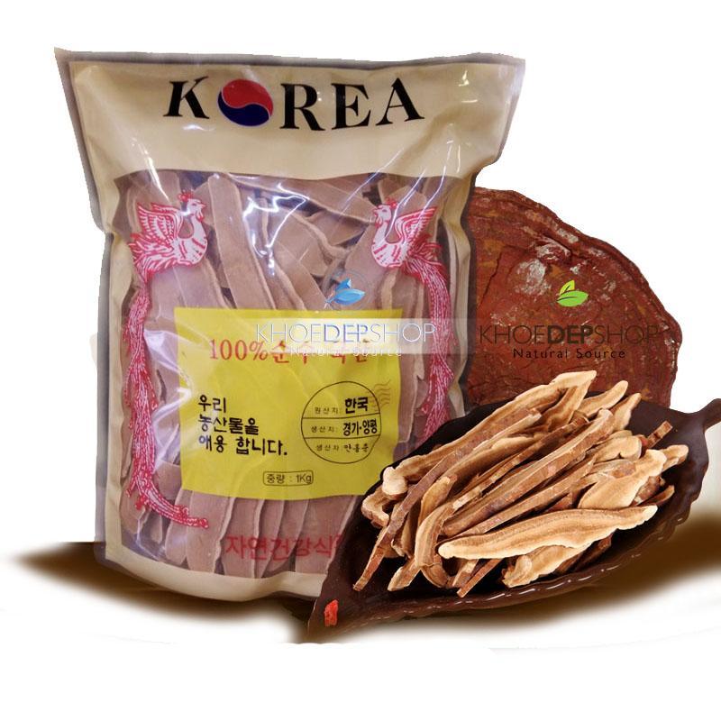 Linh chi đỏ Hàn Quốc thái lát sẵn 1kg
