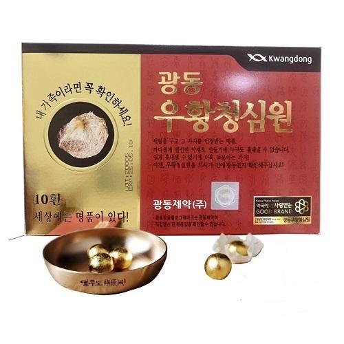 An Cung Ngưu Hoàng Hoàn KwangDong Nội Địa Hàn Quốc - Hộp Đỏ 10 viên