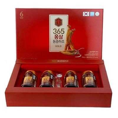 Cao Hồng Sâm Đông Trùng 365 Gold Hàn Quốc 4 lọ