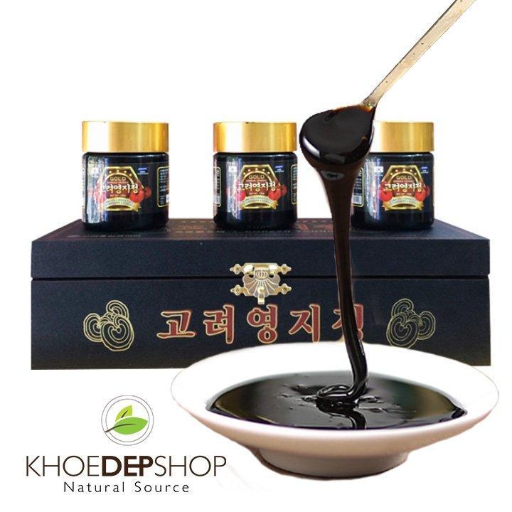 Cao Linh Chi Gold Gỗ Đen Cao Cấp Hàn Quốc   - 3 lọ x 120g