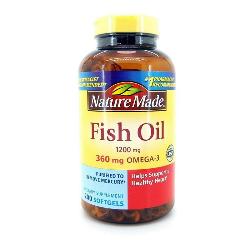 Dầu Cá Fish Oil Nature Made Mỹ 1200mg 200 viên