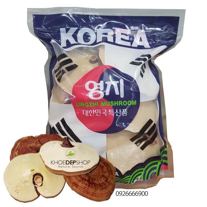 Nấm Linh Chi Cao Cấp Lá Cờ Hàn Quốc - Túi 1kg