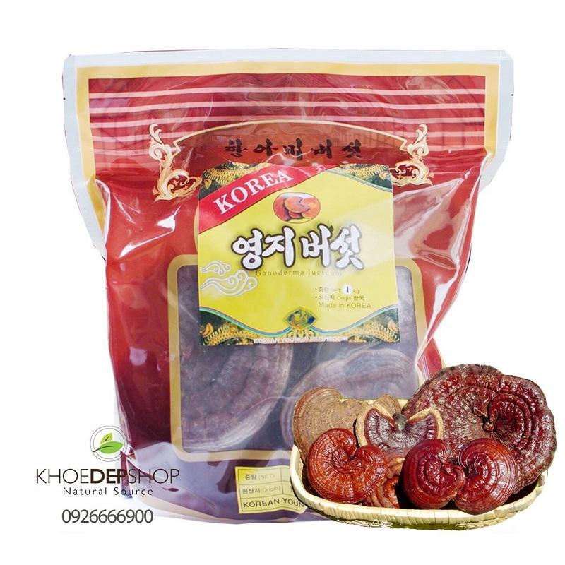 Nấm Linh Chi Đỏ Túi Đỏ Hàn Quốc - Túi 1kg