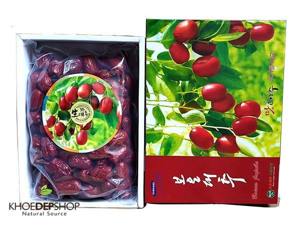 Táo đỏ sấy khô Jujube BOEUN GUN Hàn Quốc hộp quà biếu cao cấp