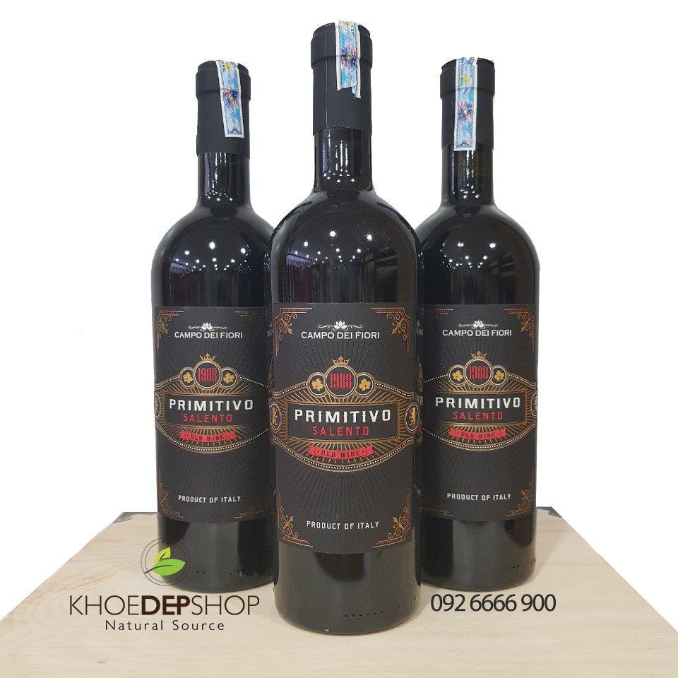 Vang Đỏ Ý 1988 Primitivo Salento 14.5%