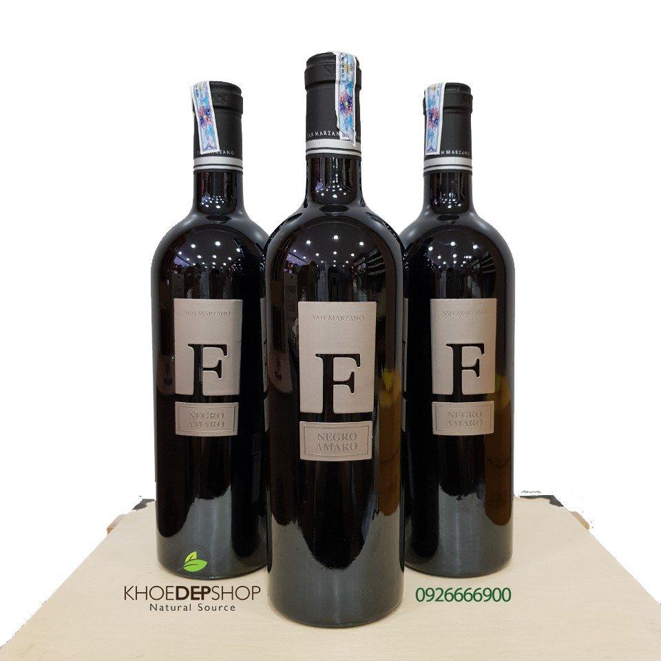 Vang Đỏ Ý F Negro Amaro 15%